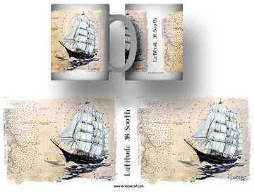 Clipper Ship Mug by Dick Levesque