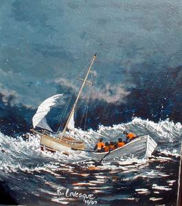 Gallery three dick levesque coast guard and maritime artist for National motor lifeboat school