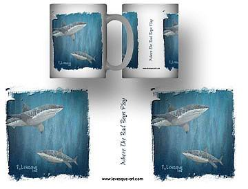 Sharks Swimming Mug